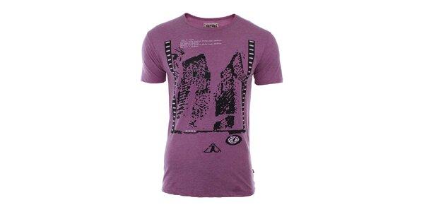 Pánske fialové tričko River Rock