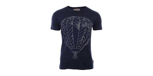Pánske tmavo modré tričko s potlačou River Rock