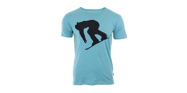 Pánske tričko so snowboardistom River Rock