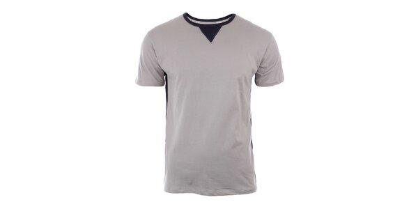 Pánske šedé tričko s krátkym rukávom River Rock