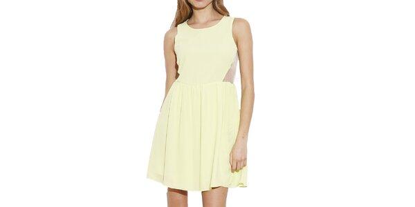 Dámske citrónové šaty bez rukávov Angel Eye