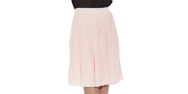 Dámska svetlo ružová skladaná sukňa Angel Eye