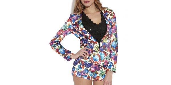 Dámske farebné kvetované šortky Angel Eye