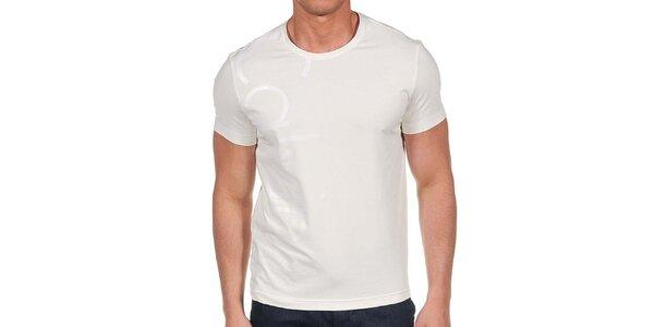 Pánske krémové tričko s krátkym rukávom Calvin Klein