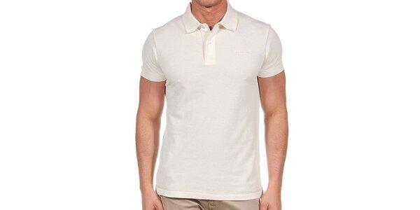 Pánske krémové polo tričko Calvin Klein
