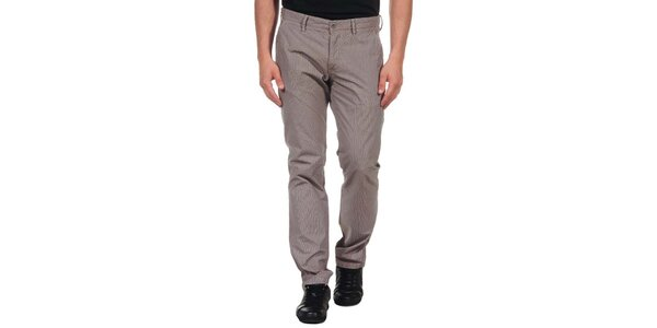 Pánske svetlé kockované nohavice Calvin Klein