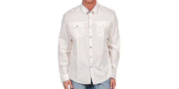 Pánska biela košeľa s vreckami Calvin Klein