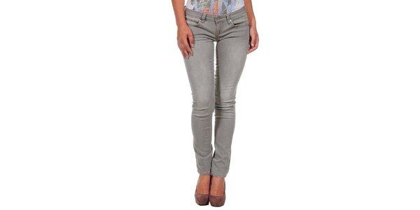 Dámske šedé úzke džínsy Calvin Klein