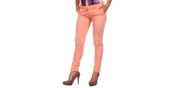 Dámske pastelovo oranžové džínsy Calvin Klein