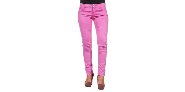 Dámske úzke ružové nohavice Calvin Klein