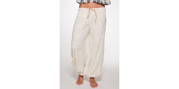 Biele volné nohavice Ian Mosh