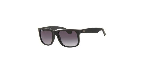 Čierne slnečné okuliare s plastovými obrubami Ray-Ban