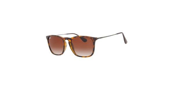 Žíhané slnečné okuliare s tenkými stranicami Ray-Ban