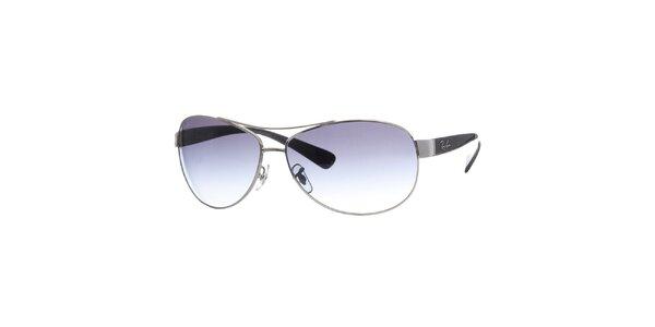 Kovové slnečné okuliare v striebornej farbe Ray-Ban