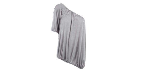 Dámske šedé tričko s jedným rukávom Pietro Filipi