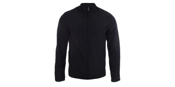 Pánska čierna bunda na zips Pitro Filipi