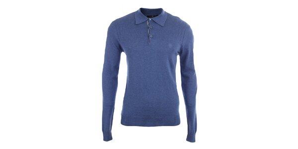 Pánsky modrý sveter s límčekom Pietro Filipi