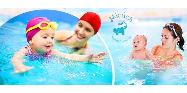 Baby plávanie pre mamičky s bábätkami