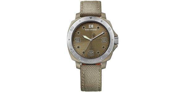 Dámske analógové khaki hodinky Hugo Boss Orange