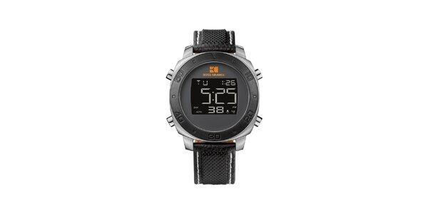 Pánske čierne digitálne hodinky Hugo Boss Orange