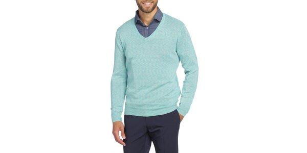 Pánsky svetlo modrý sveter s véčkový výstrihom LIU•JO