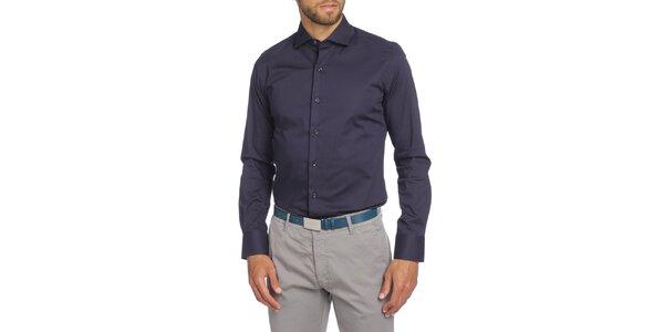 Pánska tmavo modrá košeľa s dlhým rukávom LIU•JO