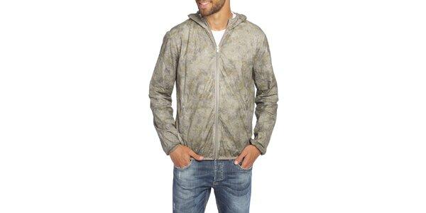 Pánska šedá bunda s kapucňou LIU•JO