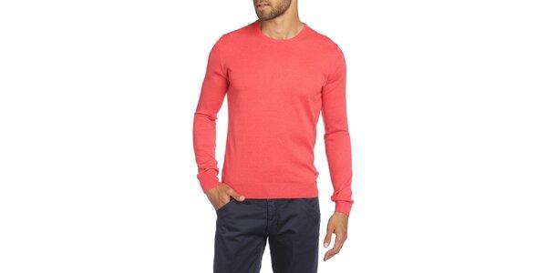 Pánsky sveter v korálovej farbe LIU•JO