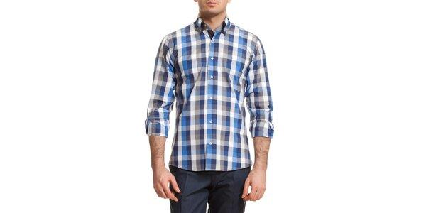 Pánska modro-šedo kockovaná košeľa Dewberry
