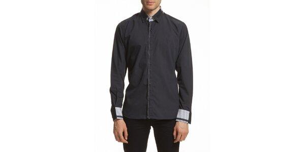 Pánska košeľa so vzorovanými manžetami Dewberry