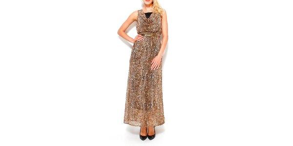 Dámske dlhé šaty s leopardím vzorom Dewberry