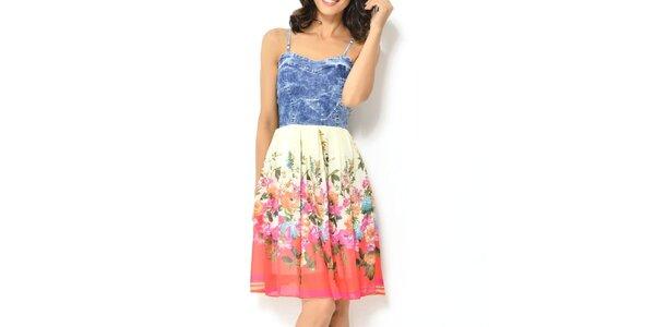 Dámske šaty s farebnými kvetmi Dewberry