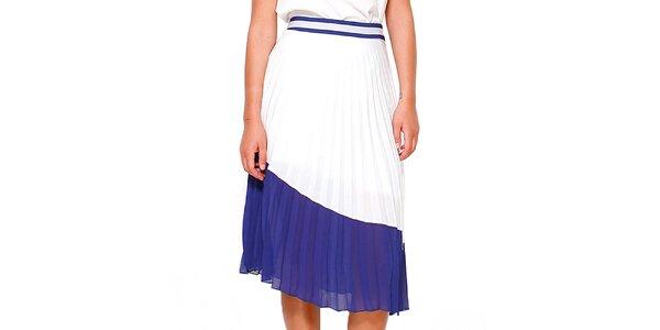 Dámska modro-biela skladaná sukňa Dewberry