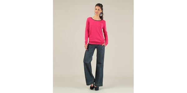 Dámsky fuchsiový sveter s mašľami Lili Lovely