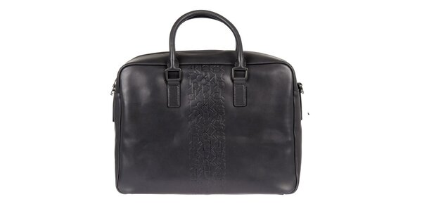 Pánska čierna kožená taška Calvin Klein