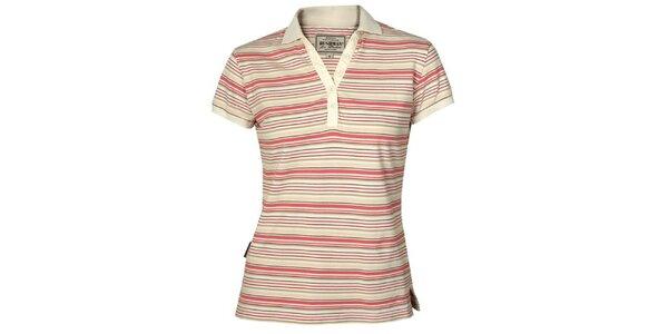 Dámske červeno pruhované tričko Bushman