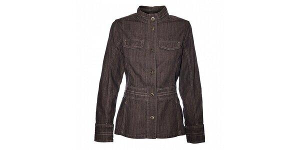 Dámsky svetlo šedý džínsový kabátik Bushman