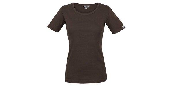 Dámske hnedé tričko s krátkym rukávom Bushman
