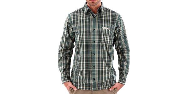 Pánska zelená pruhovaná košeľa Bushman