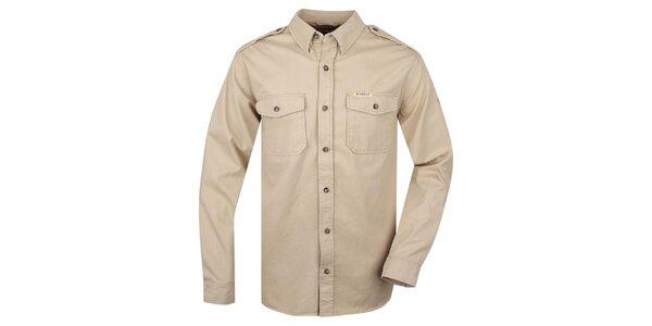 Pánska béžová košeľa Bushman