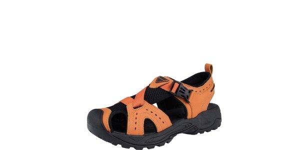 Dámske oranžové trekové sandále Bushman