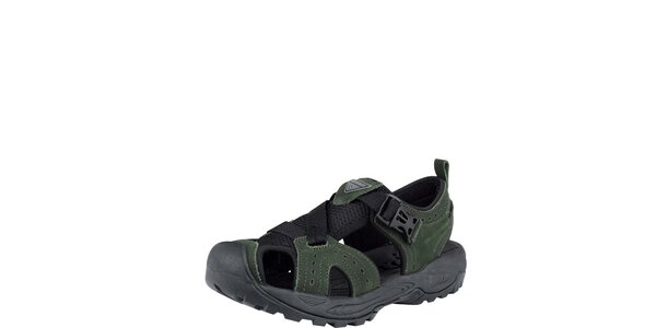 Pánske tmavo zelené sandále s plnou špičkou Bushman