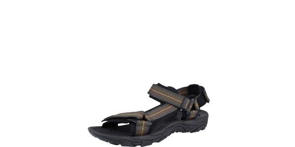 Pánske hnedé remienkové sandále Bushman