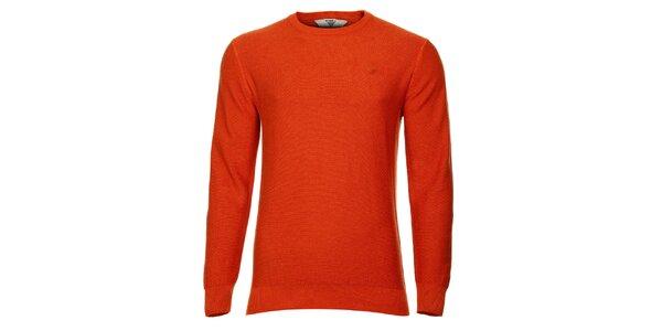Pánsky oranžový sveter Bushman
