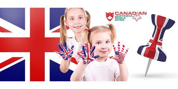Jazykové kurzy angličtiny pre deti