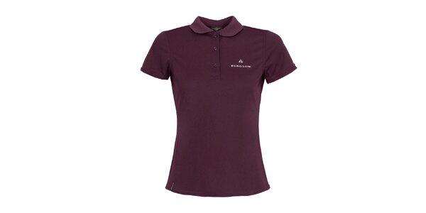 Dámske fialové polo tričko Bergson
