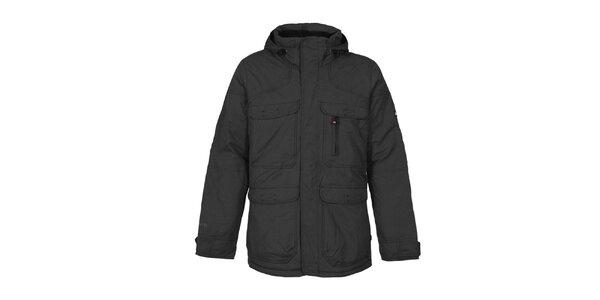 Pánska čierna funkčná bunda s kapucňou Bergson