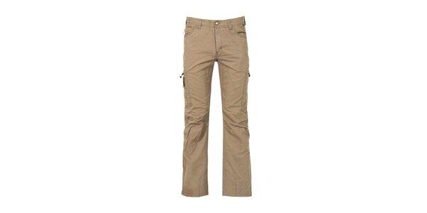 Pánske hnedobéžové outdoorové nohavice Bergson