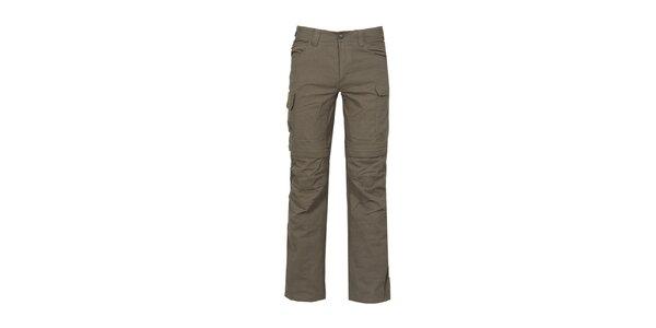 Pánske nastaviteľné tmavé outdoorové nohavice Bergson