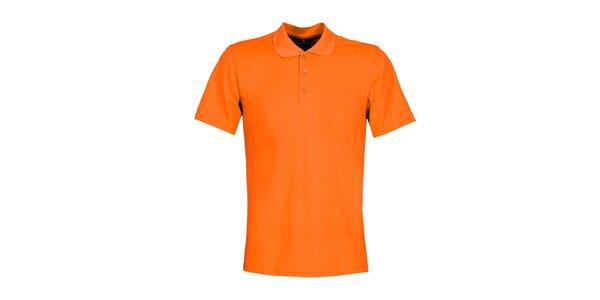 Pánske oranžové polo tričko Bergson